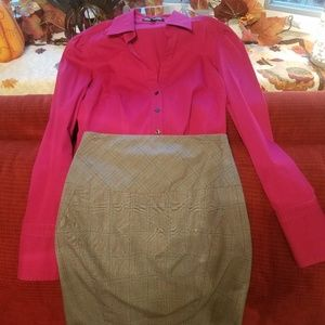Express high waisted pencil skirt and blouse